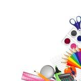 Achtergrond met schoollevering Stock Foto
