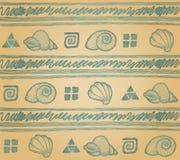 Achtergrond met shells. Royalty-vrije Stock Fotografie