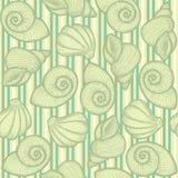 Achtergrond met shells Royalty-vrije Stock Afbeeldingen
