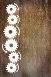 Achtergrond met sidebar van tandraderen wordt gemaakt dat Royalty-vrije Stock Foto