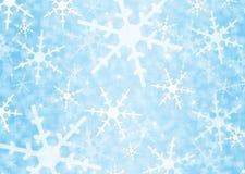 Achtergrond met sneeuwvlokken Royalty-vrije Stock Foto's