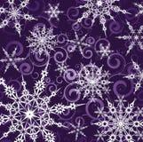Achtergrond met sneeuwvlokken Stock Afbeeldingen