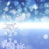 Achtergrond met sneeuwvlokken Stock Foto