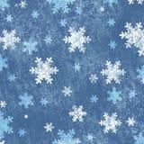 Achtergrond met sneeuwvlokken Royalty-vrije Stock Foto