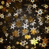 Achtergrond met Sneeuwvlokken Stock Fotografie