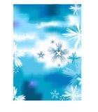 Achtergrond met snowfalkes Stock Foto