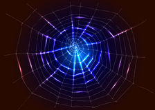 Achtergrond met spinneweb Royalty-vrije Stock Afbeelding