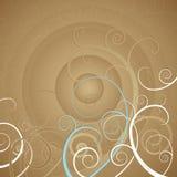 Achtergrond met spiralen, vector Stock Foto's