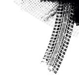 Achtergrond met spoor van de grunge het zwarte band, Stock Afbeelding