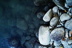 Achtergrond met stenen Stock Foto