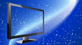 Achtergrond met sterren en TV Stock Foto's