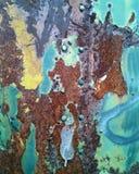 Achtergrond met structuur en textuur van oude metaalmuur Royalty-vrije Stock Afbeelding