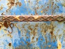 Achtergrond met structuur en textuur van oude metaalmuur Royalty-vrije Stock Fotografie