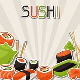 Achtergrond met sushi Royalty-vrije Stock Foto