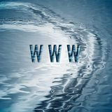 Achtergrond met symbool WWW. Stock Fotografie