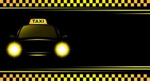 Achtergrond met taxiteken en cabine Royalty-vrije Stock Foto's