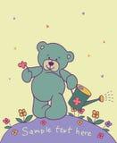 Achtergrond met teddybeer Stock Foto's