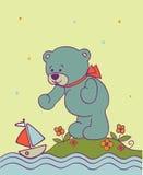 Achtergrond met teddybeer Royalty-vrije Stock Afbeeldingen