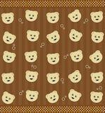 Achtergrond met teddyberen Royalty-vrije Stock Foto's