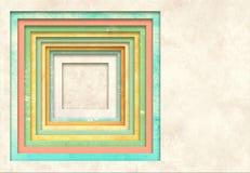 Achtergrond met textuur van oud document en vierkant kader Stock Foto's
