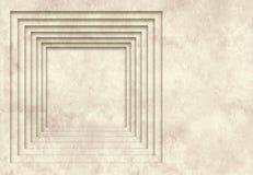 Achtergrond met textuur van oud document en vierkant kader Royalty-vrije Stock Foto's
