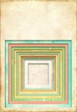 Achtergrond met textuur van oud document en vierkant kader Stock Fotografie