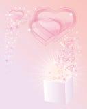 Achtergrond met transparante harten Royalty-vrije Illustratie