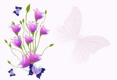 Achtergrond met tulpen Stock Afbeeldingen