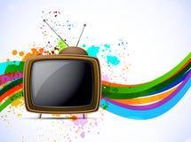 Achtergrond met TV Stock Foto