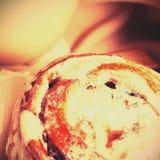 Achtergrond met uitstekend cupcake Stock Foto's