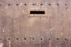 Achtergrond met uitstekende houten deur Stock Fotografie