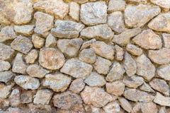 Achtergrond met uitstekende stenenmuur Stock Foto