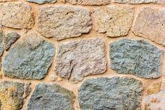 Achtergrond met uitstekende stenenmuur Royalty-vrije Stock Afbeelding