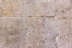Achtergrond met uitstekende witte poreuze bakstenen muur Royalty-vrije Stock Afbeelding