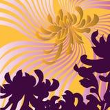 Achtergrond met vectorbloemen Royalty-vrije Stock Foto's