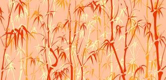 Achtergrond met veel bamboe in Aziatische stijl. Stock Afbeeldingen