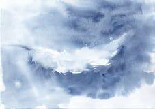 Achtergrond met veer in marinekleuren Royalty-vrije Illustratie