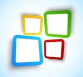 Achtergrond met vierkanten Royalty-vrije Stock Afbeeldingen