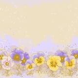 Achtergrond met viooltje Royalty-vrije Stock Afbeeldingen