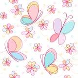 Achtergrond met vlinder Royalty-vrije Stock Foto