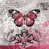 Achtergrond met vlinder Stock Afbeeldingen