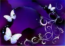 Achtergrond met vlinder Stock Foto's