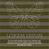 Achtergrond met vlinder en plaats voor tekst Stock Afbeelding