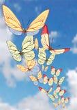 Achtergrond met vlinder. Vector. Stock Foto's