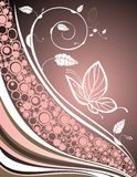 Achtergrond met vlinders Royalty-vrije Stock Foto