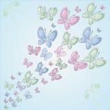 Achtergrond met vlinders Stock Fotografie