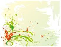 Achtergrond met vlinders stock illustratie