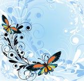 Achtergrond met vlinders royalty-vrije illustratie