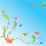 Achtergrond met vlinders Royalty-vrije Stock Afbeelding