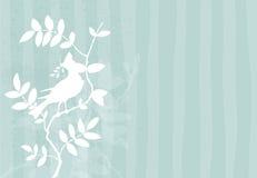 Achtergrond met vogel op een tak Royalty-vrije Stock Foto's